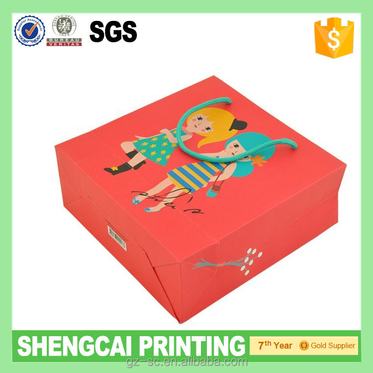 Hot sale printed paper bag with custom design