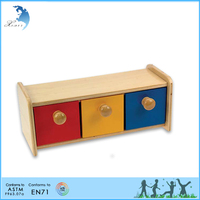 Montessori preschool wooden educational toys for teenagers Box with Bins