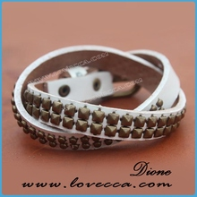 2014 Top quality best selling fashion new crystal cross leather wrap bracelet