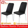 2015 de alta calidad nuevo diseño de la cubierta de cuero y las piernas del cromo silla de comedor mueblesdecomedor