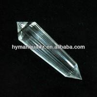 Size: 11.7*2.3*1.8cm Natural Rock Quartz Crystal Double Point