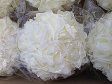 diamante foam rose flower kissing ball wedding pomander