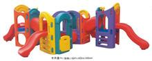 Kids plastic outdoor playground curved Slide
