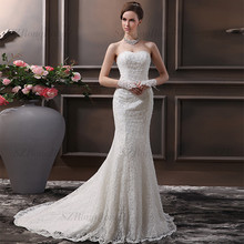 SZRR1508 Alibaba Designer Bridal Backless Beaded Lace Mermaid Wedding Gowns
