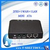 ATA, 2*FXS VoIP, 1*WAN and 1*LAN ,fiber router ATA adapter
