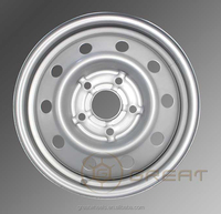 Silver /black color 16 inch steel wheel