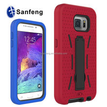 Graceful soft shockproof case for Samsung S6 kickstand case;multi-fuction phone cover for Samsung galaxy S6 robot case
