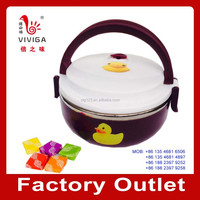 Small yellow duck lunch box swiss fruit soft candy