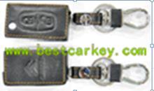 Hot Sale leather car key case for citroen key leather key case