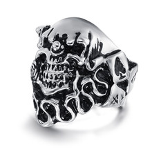 Boys rings silver rings for men fashion skull ring jewelry wholesale
