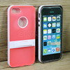 New arrival Nice dual color hybrid pc tpu cute cell phone cases for iphone 5s with kickstand