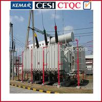120mva 3 phase oil immersed toroidal 2windings type 110KV power transformer substation