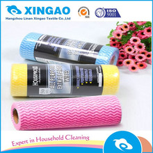 High water-absorbing quality teeth pattern cleanroom wiping wipe for hotel use