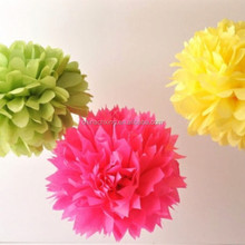 8inch 20cm tissue paper flowers for curtain wall wedding decoration with factory price
