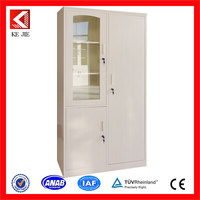 Steel file cabinet / papers steel glass cabinet/ luxury office furniture