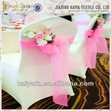 Breathable Fashion Colorful 30D*30D Organza Ruffled Chair Cover