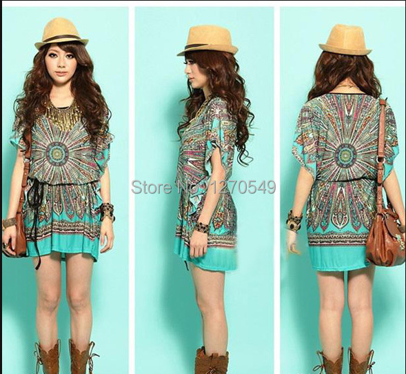 Women Plus Boho Clothing casual dress plus size