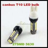 led bulb Canbus T10 27smd 5630 LED car Light no error W5W 27 SMD Led light for bmw car led lamp