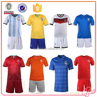 2015 high quality two pieces men cheap soccer jersey