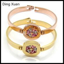 2015 gold fashion bracelet with 6 zircon