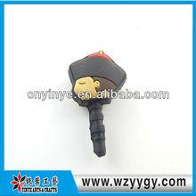 pvc/silicone earphone jacks dust cap plugs