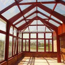 guangzhou wood color small garden house,aluminum sun houses,winter garden sun house