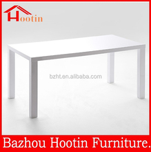 modern high quality MDF white lacquer dining table