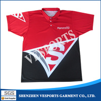 Dye Sublimation uniform polo shirt,sublimated dry fit sport shirt Polyester Polo Shirts
