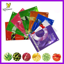 Fruity essence 38g essential oil 100% cotton sheet mineral mud facial mask