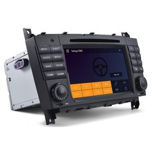 car audio system for mercedes clk w209 mercedes w203 car radio with GPS navigation bluetooth SWC HD video dual zone 1.2G CPU