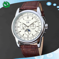 Hot luxury Brand Winner Automatic Mechanical Wristwatch Sport Military Leather Stainless Steel Skeleton Watch