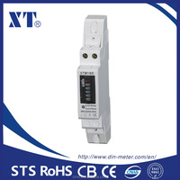 Single phase Active DIN Rail kwh meter 5+1 digits 30A
