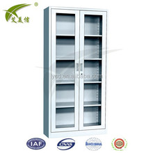 steel material office file cabinet furniture with glass door