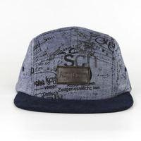 flat bill cheap 5 panel hat/fashion 5 panel hats/denim 5 panel hat