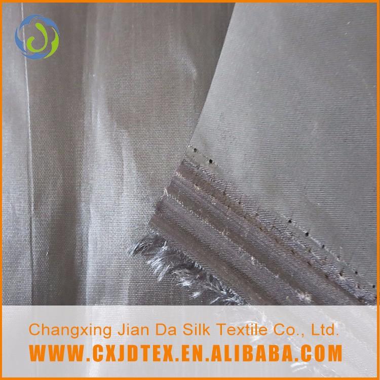 جودة مضمونة الأزياء الساخن بيع الفضة المغلفة نسيج البوليستر taffet