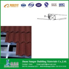 New Tile Design Corrugated Type Stone Coated Metal Roof Tile