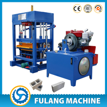 QTF4-28 cheap good quality diesel engine hydraulic pressure manual fly ash hollow concrete block and solid brick making machine