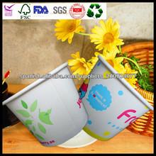 Helado vaso desechable y tapas con logotipo personalizado al por mayor de los principal