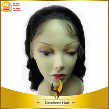 Cambodian virgin human hair full lace wig straight for black woman gluless wig cap