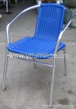 outdoor garden wicker rattan stacking metal chairs YC028