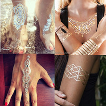 2015 new products gold foil gold leaf flash tattoo sticker
