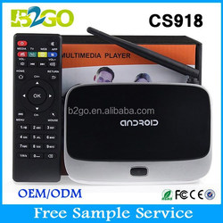 rk3188 android tv box Hot Selling CS918 advanced Android 4.4 Smart tv stick 1GB/2GB 8GB Quad Core Remote Control Android TV box