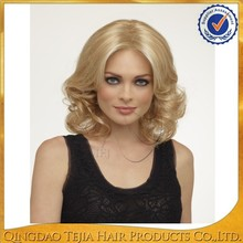 Most popular celebrity style blonde highlights color indian human hair wigs
