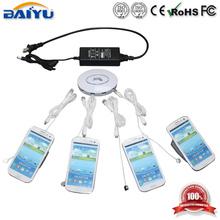Hot ! alarm and holder 4 ports multiple mobile phone holder