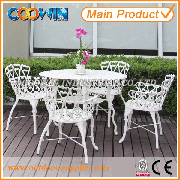 Cast Aluminum White Cast Aluminum Patio Furniture