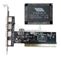 NEW Wholesale 5 Port 480Mbps USB 2.0 Hub High Speed VIA PCI Controller Card Adapter For Windows 98 2000 ME XP SE Vista