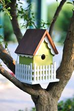 ECO-FRIENDLY WOODEN BIRD HOUSE PET HOUSE BIRD CAGE FEEDER ALS-6122