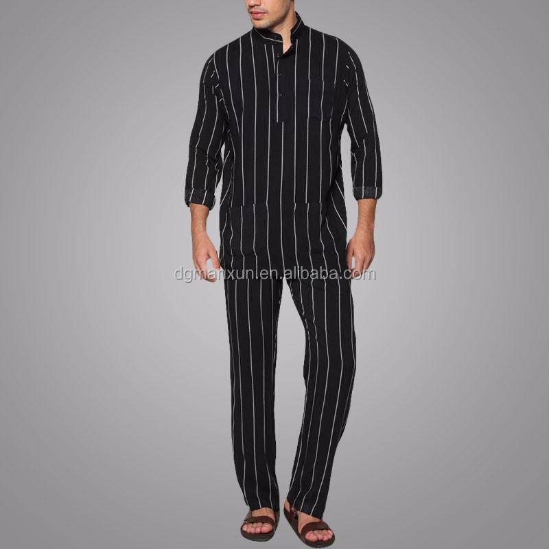 Wholesale Clothing Dubai Men Islamic Clothing Stand Collar Baju Melayu Regular Fit Jubba Photo (6).jpg