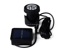 Solar energy outdoor 6pcs LED downlight portable dustproof waterproof courtyard underwater spotlight projection lamp