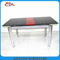 C61-3 extendable glass dining table with modern design